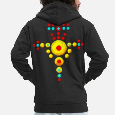 Viking symbol jewelry amulet - Men's Premium Zip Hoodie
