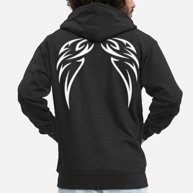 Cool tattoo wings - Men's Premium Zip Hoodie