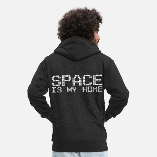 Physics Hoodies & Sweatshirts - astronomy - Men's Premium Zip Hoodie black
