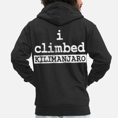 Ascension Ascension of Kilimanjaro in Tanzania - Men's Premium Zip Hoodie