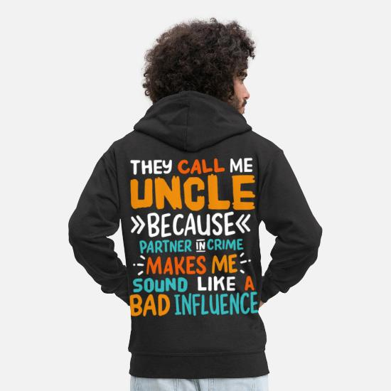 Uncle Hoodies & Sweatshirts - uncle - Men's Premium Zip Hoodie black