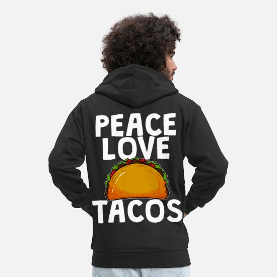 Mexican Hoodies & Sweatshirts - tacos - Men's Premium Zip Hoodie black