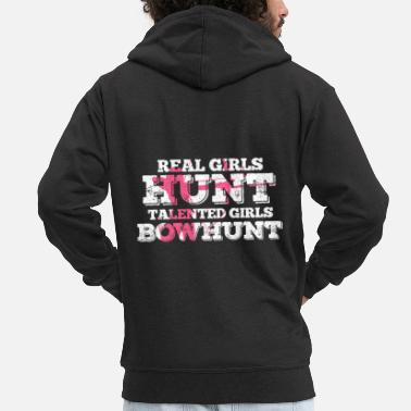 Bowhunter bowhunting - Men's Premium Zip Hoodie