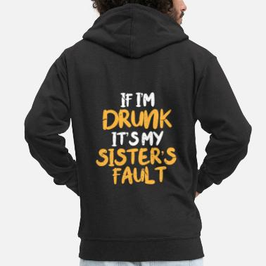 Beer Hen party sister - Men's Premium Zip Hoodie
