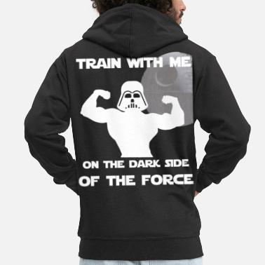 Dark Side Dark Side Brain Training Fitness Motiv Black - Chaqueta con capucha premium hombre