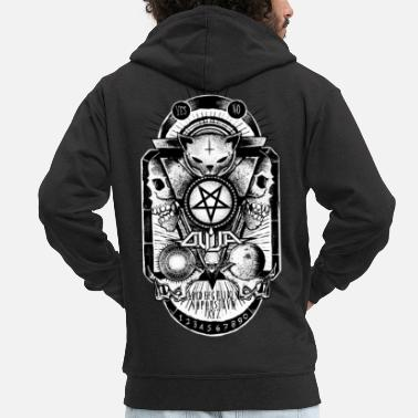 Satanic Logo Ouija complete - Men's Premium Hooded Jacket