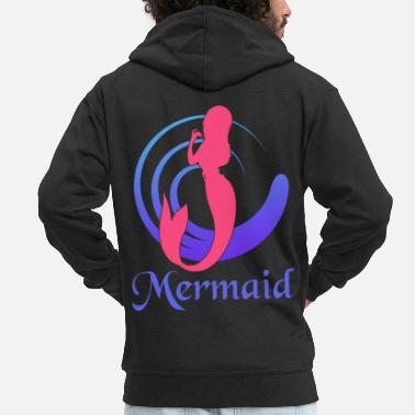 Mermaid Mermaid - mermaid - Men's Premium Zip Hoodie