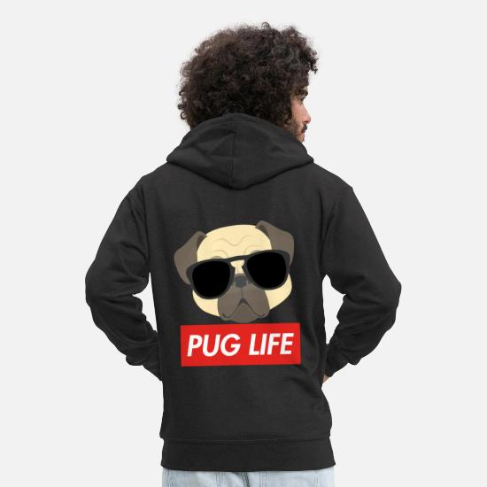 Tits Hoodies & Sweatshirts - PUG LIFE - Men's Premium Zip Hoodie black