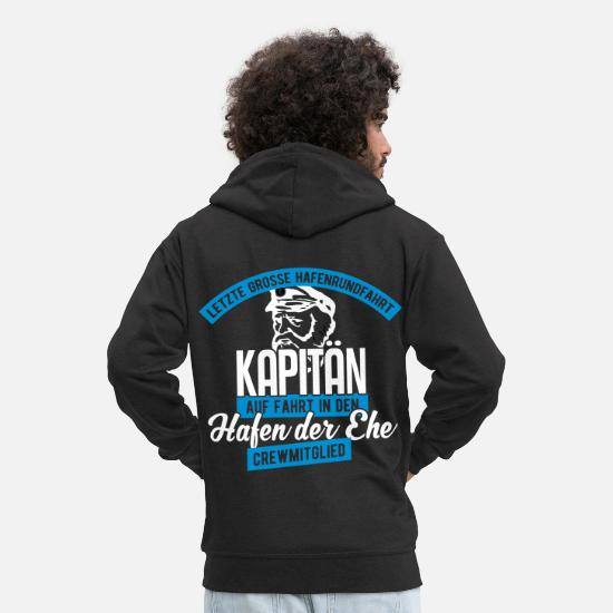 Kapten Tröjor & hoodies - Bachelor Party Team Crew - Premium zip hoodie herr svart