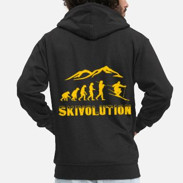 Freestyle Ski evolution skier snow winter - Felpa con zip Premium da uomo