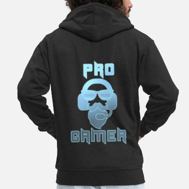 Hipster Pro Gamer Gaming Headset Hipster - Men's Premium Hooded Jacket