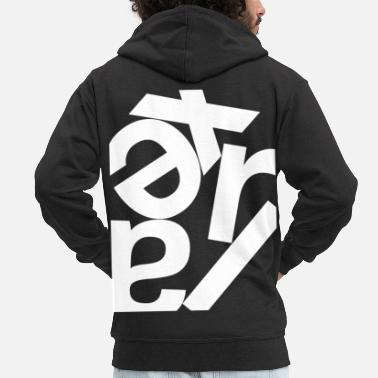 Chaot Relax pun Chaot mess - Men's Premium Zip Hoodie