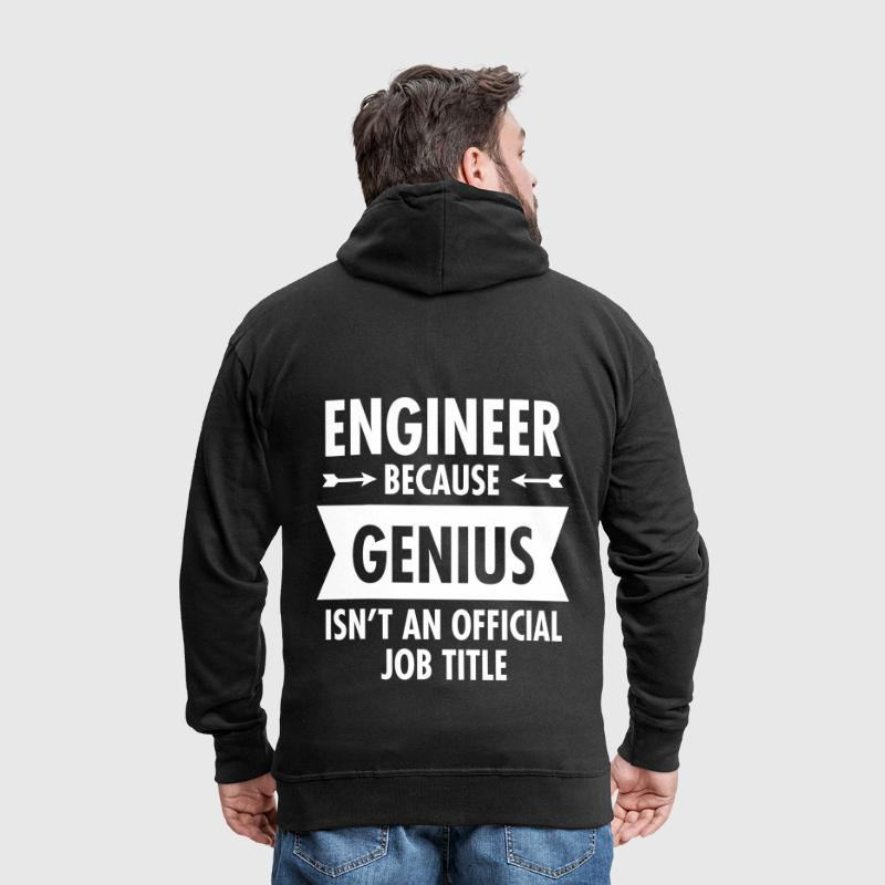 Engineer - Genius - Felpa con zip Premium da uomo