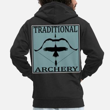 Post Traditional Archery - Männer Premium Kapuzenjacke