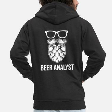 Barley Beer Analyst - Men's Premium Zip Hoodie