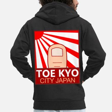 Sun Toe Kyo City Japan Rising Sun flag - Men's Premium Zip Hoodie