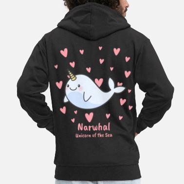 Narwhal Narwhal Unicorn of the Sea - Men's Premium Zip Hoodie