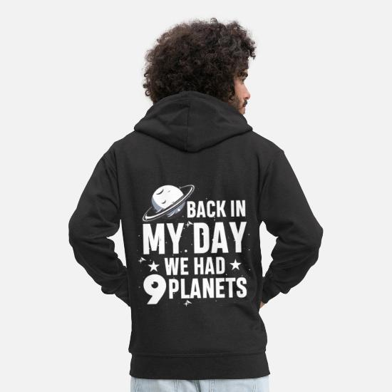 Galaxie Sweat-shirts - Science Planet Astronomy - Pluton Galaxy - Veste à capuche premium Homme noir