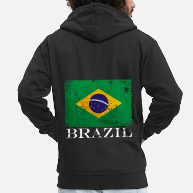 South Brazil flag flag holiday - Men's Premium Zip Hoodie