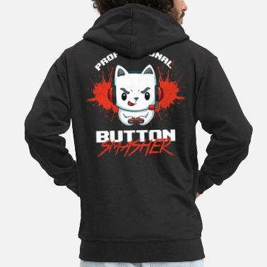 Button Professional Button Smasher Rolig spelare - Premium zip hoodie herr