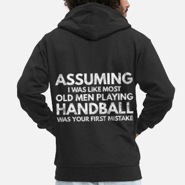 Goalkeeper Handball Handballer Sport Club Ball Gift 1 - Men's Premium Zip Hoodie