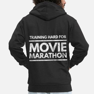 Tv Cinema Movie Movie Popcorn Filmmaker Tv Gift 1 - Men's Premium Zip Hoodie