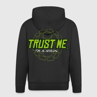 TMNT Turtles Trust Me I'm A Ninja Shield - Premium Hettejakke for menn
