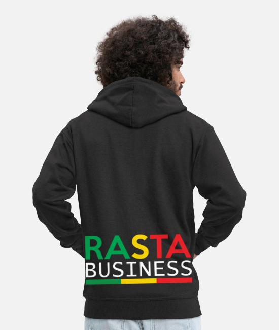 Rasta Hoodies & Sweatshirts - Rasta Business - Men's Premium Zip Hoodie black