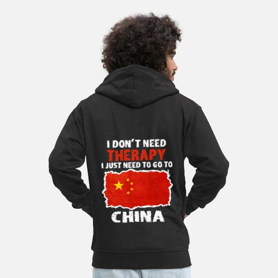 China Hoodies & Sweatshirts - China - Men's Premium Zip Hoodie black