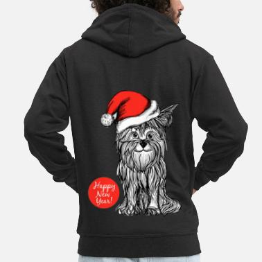 Yorkshire Christmas Yorkshire Terrier dog - Men's Premium Hooded Jacket