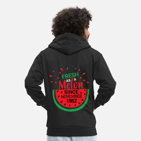 Look Good Hoodies & Sweatshirts - Fresh as a melon since November 1962 - Men's Premium Zip Hoodie black