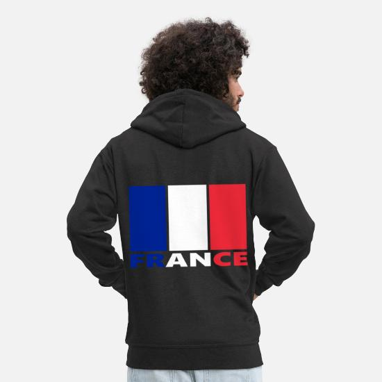 Gift Idea Hoodies & Sweatshirts - France, France - Men's Premium Zip Hoodie black