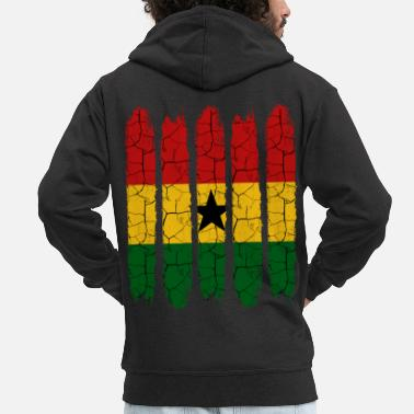 Kleur Trendy Ghana Modern National Colors Country Gift - Mannen premium zip hoodie