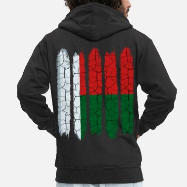 Madagascar Republic of Madagascar Cool Flag Modern Gift Idea - Men's Premium Zip Hoodie