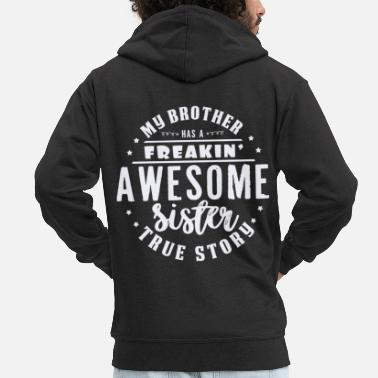 Brother Brother and sister - Men's Premium Zip Hoodie