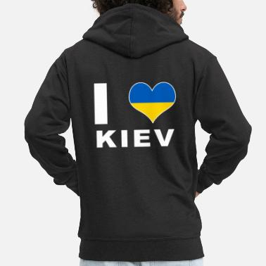 Kiev Kiev - Men's Premium Hooded Jacket