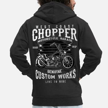 Chopper ROAD TRIP CHOPPER - Chopper Motorcycle Design Shirt - Veste à capuche premium Homme
