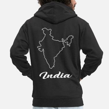 Map India Map Map - Men's Premium Zip Hoodie