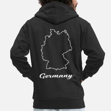 Map Germany map map - Men's Premium Zip Hoodie