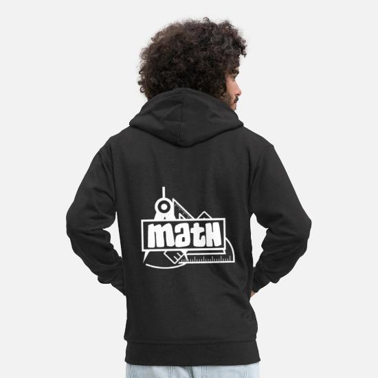 Love Hoodies & Sweatshirts - Math - Black White - Men's Premium Zip Hoodie black