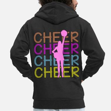 Cheerful Cheerleading - Cheer Cheer Cheer - Men's Premium Zip Hoodie
