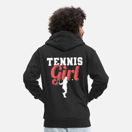Ass Hoodies & Sweatshirts - Tennis play gift tennis team - Men's Premium Zip Hoodie black