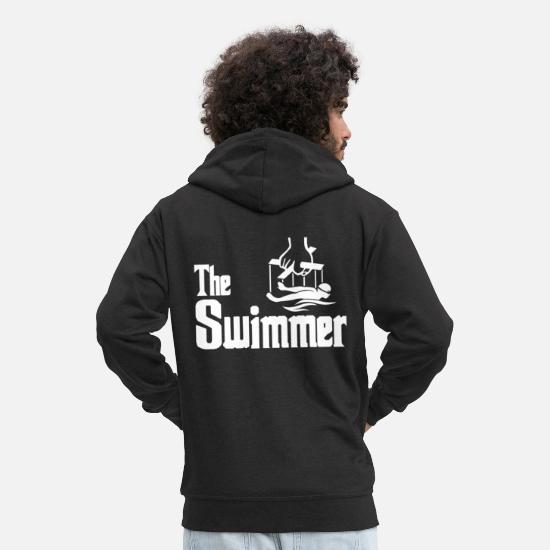 Gift Idea Hoodies & Sweatshirts - Swimming swimmer swimmer gift idea - Men's Premium Zip Hoodie black