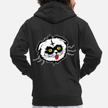 Derp Black Metal Derp Cat - Men's Premium Hooded Jacket