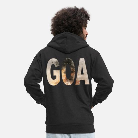 Love Hoodies & Sweatshirts - goa womandesign - Men's Premium Zip Hoodie black