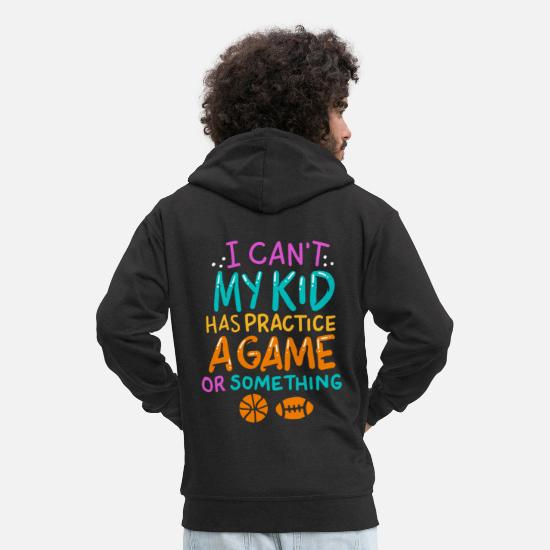 Parent Hoodies & Sweatshirts - PARENTS | Child Kids Hobby Leisure Football Kids - Men's Premium Zip Hoodie black