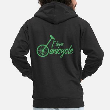 Unicycle Unicycle Unicycle Unicycle Unicycling - Men's Premium Zip Hoodie