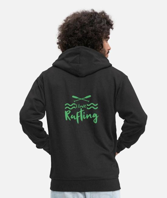 Rafting Hoodies & Sweatshirts - River raft whitewater rafting raft rafting - Men's Premium Zip Hoodie black