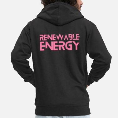 Sustainable Renewable energy - Men's Premium Zip Hoodie