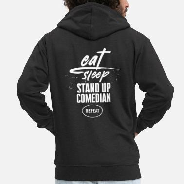 Stage Stand Up Comedy Comedy Comedian Performance Funny - Men's Premium Zip Hoodie
